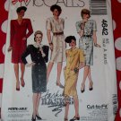 OOP Easy McCalls 4642 Misses or Petite Dress Sewing Pattern, Sz 6 8 10, Uncut
