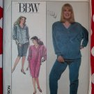 OOP easy Simplicity 8876 BBW Dress or Top, Pants, Skirt Pattern, Sz 28W to 32W, Uncut
