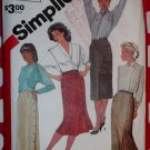 Vintage Misses' Slim Skirt Simplicity 6234 Sewing Pattern , Size 14,  Uncut