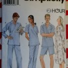 OOP Easy Simplicity 9898 Unisex Nightshirt and Pajamas Pattern,  Sz Lrg, X Lrg, 42 to 48  Uncut
