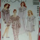 OOP McCall's 6890 Pattern Misses Nightgown, Nightshirt & Pajamas, Sz 4 to 14, Uncut