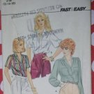 Easy Butterick 4496 Misses Blouse Pattern Size 12 14 16, Uncut