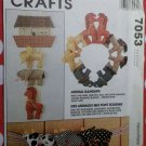 McCalls Crafts 7053 Animal Hangups pattern for soft art, Uncut