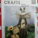 OOP McCalls 2014, Garden Angel Bunny With Wall Hanging & Decorative Garden Gloves Pattern, Uncut