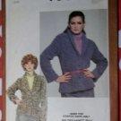 Vintage Simplicity 9580, Misses Knits Blazer Pattern, sz 14, Uncut