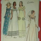 Vintage 70s Butterick 3491 Wedding Gowns Pattern, Size 10, B 32 1/2, Uncut