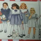 OOP Butterick 3486  Girls Dress pattern, sizes 2 3 4,  UNCUT