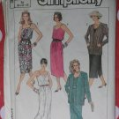 Vintage Easy Simplicity 7552 Misses Dress & Jacket Pattern, Size 6 8 10, Uncut