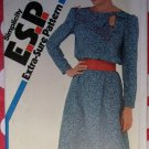 Retro 80s Simplicity 5765 ESP Misses or Petite Dress Pattern, Sz 10 12 14, Uncut