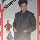 Vintage 80s Simplicity 5664  Fuss Free Fit  Misses Unlined Jackets Sewing Pattern, Sz 10, Uncut