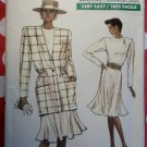 Vintage Easy Vogue 7096 Misses or Petite Jacket & Dress Pattern, Sz 8 10 12, Uncut