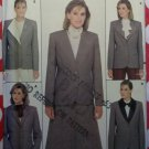Butterick 6310 Sewing Pattern, Misses Lined Jacket Detachable Collar Variations, Sz 10, Uncut