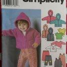 Simplicity  5316  Babies Separates Sewing Pattern, Sz XXS-XS-S-M-L,  7-24 Lbs