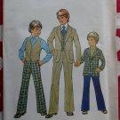 Vintage 70s Simplicity 7733 Boys Jacket Vest & Pants Pattern, Size 8 Chest 27, Uncut