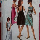 Vintage 60&#39;s Simplicity 6939 Junior&#39;s Empire Dress Sewing Pattern, Sz 13, Bust 33