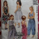 McCall's 5962 Girls Fashion Basics Jumpsuit & Dress pattern,  Size 10 12 14, Uncut
