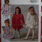 OOP Easy Butterick 5196 Girls Dress and Headband, Size 2, 3, 4, Uncut