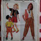 OOP Easy Simplicity 9676 Girls Pants or Shorts Vest & Knit Top Pattern,  Sizes 7 to 14, Uncut