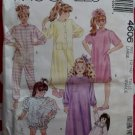 OOP Easy McCalls 4606, Girls Nightshirt, Gown, Top & Bloomers, Pys & Robe Pattern, Sz 12-14, Uncut