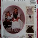 McCall's 6854 Girls Kitty Benton Dress, Slip & Detachable Collar Pattern, Sz 14, Uncut