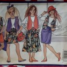Fast & Easy Butterick 4943 Girls Vest, Top, Skirt, Shorts, & Culottes Pattern, Size 12 14, Uncut