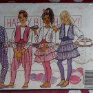 Fast & Easy Butterick 5079 Girls Vest, Top, Skirt, & Harem Pants Pattern, Size 12 14, Uncut