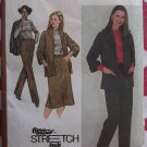Vintage 80s Simplicity 9624 Jacket, Top, Skirt, Pants Pattern,  Half size 18 1/2 to 22 1/2, Uncut