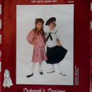 Deborah's Designs Girls Stephanie's Sailor Blouse, Skirt  & Hat Pattern, Sz 4  6 8,  Uncut