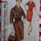 Vintage 60s Simplicity 5054 Wrap Dress Pattern, Size 16 Bust 36, Uncut
