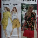 OOP Easy Simplicity 8272 Misses Shorts Skirt Tank Top UL Jacket Pattern, Plus Sz 18 - 24 Uncut