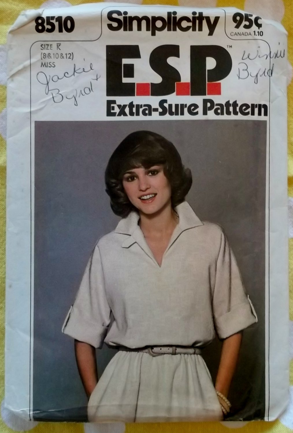 Vintage 70s Simplicity 8510 Pullover Raglan Sleeve Dress Pattern Uncut Size 8-12