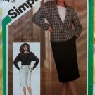Vintage 80's Simplicity 6522 Sewing Pattern, Misses Suit, Jacket, Skirt, & Top, Sz 8, Uncut