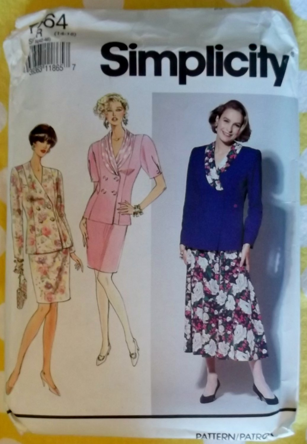 OOP Simplicity 7564 Two Piece Dress Sewing Pattern, Sz 14 16 18, Uncut