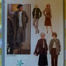 Simplicity 9153 Pattern Women's Skirt, Pants & Unlined Jacket, size 14.5 Half Size, Uncut