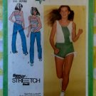 70's Simplicity 9356 Junior/Teens' for Knits Pants, Shorts & Pullover Tank Tops , Sz 9 to 14, Uncut