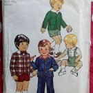 Vintage 70's Simplicity 6119 Toddler Suit, Jacket and Pants Pattern, Sz 1, UNCUT