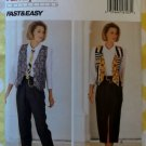 Easy Butterick 6682 Misses Wardrobe Vest Tie Shirt Skirt & Pants Pattern, Sz 12 14 16, UNCUT