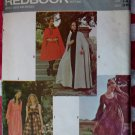 Vintage 1970's Rare Redbook RD1900 Cape & BabyDoll Dress, Sz 14, Uncut