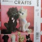 Quick Easy Parlour Pets McCall's M5349 Marilou Jorgensen Cats Pattern, Sz 10 & 15 inch, Uncut