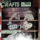 McCall's 703 Crafts Sewing Pattern Patchwork Pillows Toys Ornaments Sachet, Uncut