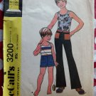 70s McCalls 3200 Boys Tank top Pants & Shorts Sewing Pattern Size 3