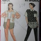 Simplicity 7769 Misses Tapered Pants Button Front Shirt Sewing Pattern, Plus Size 6-24, Uncut