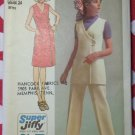 Easy 70's Simplicity 9461 Dress, Tunic & Pants Vintage Sewing Pattern, Sz 10 Bust 32 1/2, Uncut