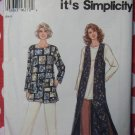 Misses' Lined Vest, Top & Pants Pattern, Sz 6 to 24, Simplicity 9313, Uncut