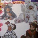 Toddler Picture Me Costumes Mouse Bunny Bear Simplicity 4001 Pattern, Sz  1/2 to 4,  UNCUT  OOP