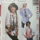 Misses Shirt, Vest and Necktie McCall's 6112 Pattern, Size 6, 8, Uncut OOP