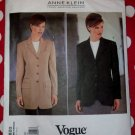 Designer Anne Klein Misses Jacket OOP Vogue 1820 Pattern, Size 6 8 10, Bust 30 1/2 to 32 1/2, UNCUT