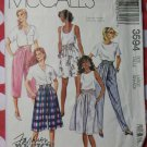 1988 Misses Skirt, Culotte, and Pants, McCall's 3594 Sewing Pattern, Sizes 18 20, Uncut