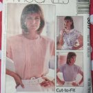 Easy Misses or Petite Blouse McCall's Pattern McCall's 3517 Pattern, Size 8 10 12, Uncut
