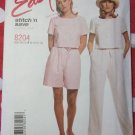 Misses Easy Top, Pants, Shorts McCalls 8204 Pattern, Size 8 10 12 14, UNCUT